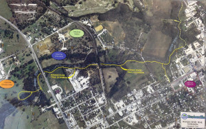 Map of Bosque River Trails' expansion (Map Courtesy of Schrickel, Rollins and Associates, Inc.)