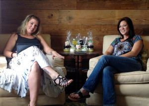 """Life Vibes"" host Breezey Clark with Zen Spa owner Amber Peterson"