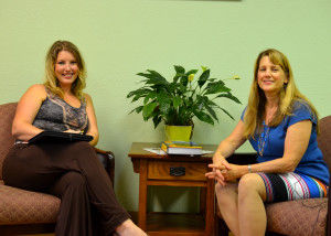Breezey sits down with Dr. Linda Heflin to discuss the benefits of integrative medicine and nutrition. (Landon Haston, Texan News Service)