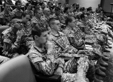 ROTC cadets filled several rows of the theater at the symposium. (Courtesy photo by Justin Brundin)