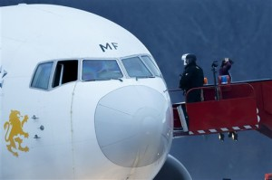 Switzerland Plane Diverted