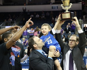 Three generations of Reismans celebrated on the court together Saturday night.Todd Coley, Texan News
