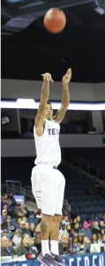 Chuck Guy had it going scoring and assisting, the senior had 19 points and 9 assists.Todd Coley, Texan News