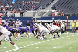 The Texans fell to Florida Tech 37-31 Saturday night at AT&T Stadium.Photo by Todd Coley