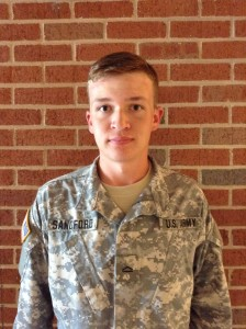 Houston Sandford is a sophomore marketing major in ROTC.