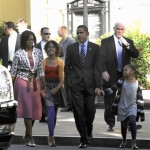 Barack Obama, Michelle Obama, Sasha Obama, Malia Obama, Joseph Clancy