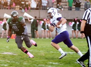 Tarleton quarterback Collin Strahan rushed for a career high 170 yards in the win over Eastern New Mexico.  Photo courtesy of TarletonSports.com