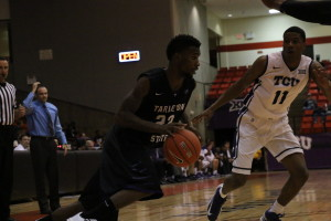 Mo Lee scored 14 points in the exhibition game against TCU in Ft. Worth on Thursday night.Photo by Azia Branson