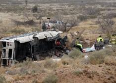 APTOPIX Fatal Wreck Prison Bus