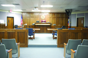 The courtroom in the Donald R. Jones Justice Center in Stephenville is where Routh's trial will be held. Photo by Sara Gann
