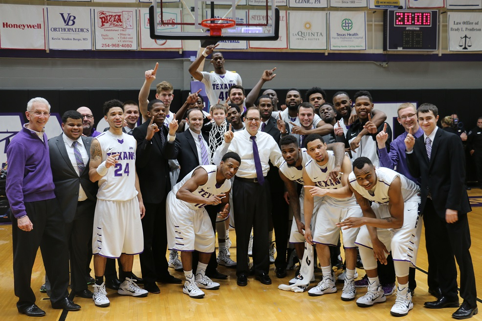 No. 7 Tarleton State won the Lone Star Conference title Sunday night in Wisdom Gym. Photo by Travis M. Smith