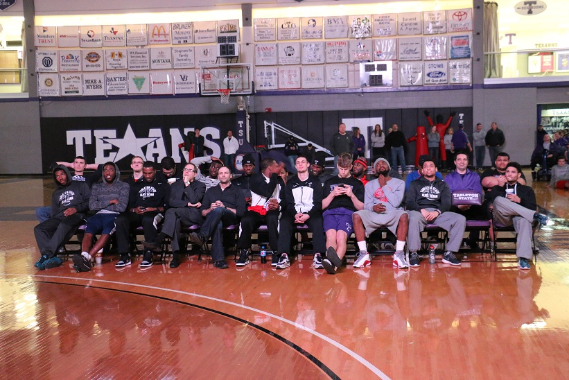 The Tarleton State basketball team awaiting the decision of the NCAA selection committee. Photo by Travis M. Smith