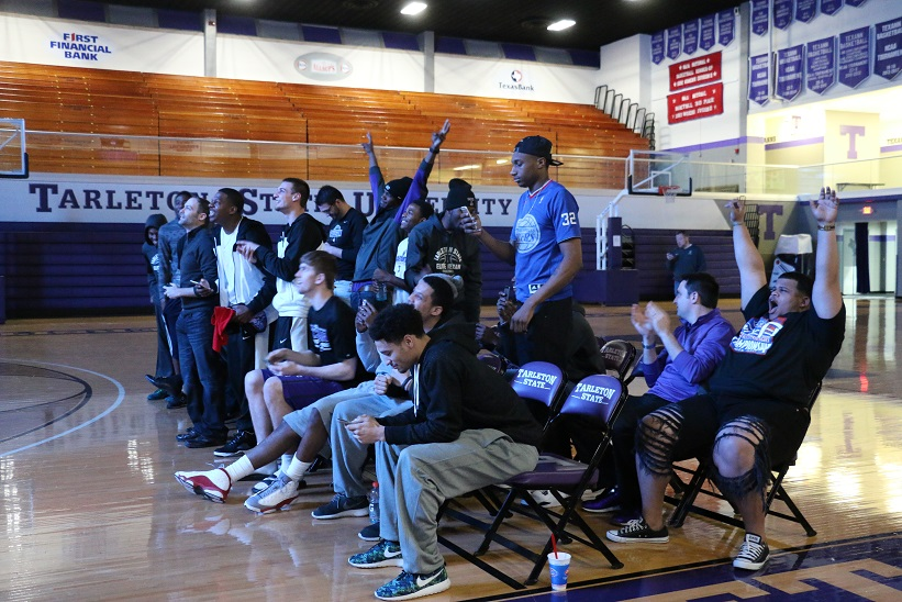 (27-3) Texans react to their official No. 1 ranking in the region. Photo by Travis M. Smith