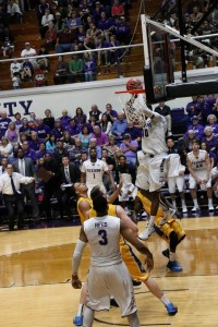 One of Carter's alley-oop dunks. Photo by Cameron Cook