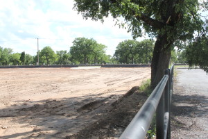 Tarleton makes room for a parking lot on the corner of McNeil and Lillian.Photo by Clifford Jones