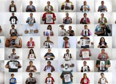 "This is an 84-photo composite of people, each holding an image of their missing relative. The photographs of the 84 were shot between April and August of 2015 in the city of Iguala and surrounding towns. The world, and even most of Mexico, paid little attention to Iguala until 43 students from a rural teachers' college disappeared on Sept. 26, 2014. Two months after the students disappeared many other families in the area began coming forward to tell their stories, emboldened by the international attention focused on the missing students. Their message was simple: there are many more missing. They called them ""the other disappeared."" The AP interviewed the relatives of 158 of those missing. Only 84 agreed to be photographed because they are still very fearful. (AP Photo/Dario Lopez-Mills)"