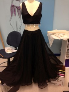 Young designed this dress for herself in her Advanced Apparel 3 class.(Photo courtesy of Bailey Young)