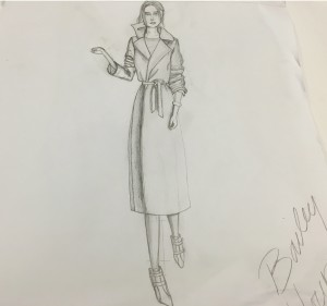 Young sketched potential fashion creations for her favorite class, Fashion Illustration.(Photo courtesy of Bailey Young)