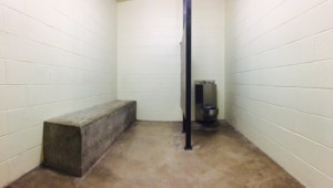Eddie Ray Routh stayed in this holding cell while waiting to enter the courtroom.(Photo by Cameron Cook, Texan News)